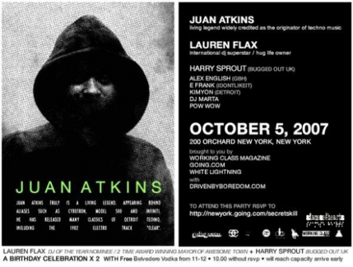 Juan Atkins Flyer